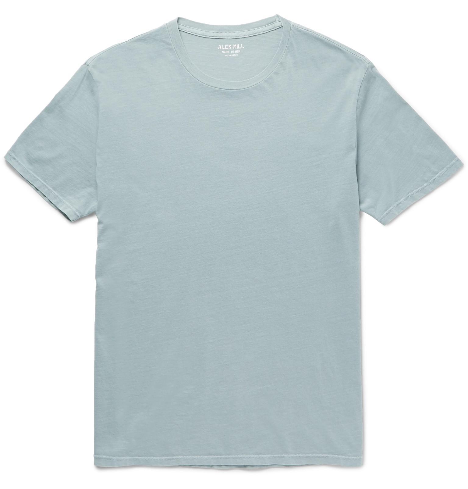 2ca945f53af Lyst - Alex Mill Slim-fit Cotton-jersey T-shirt in Blue for Men