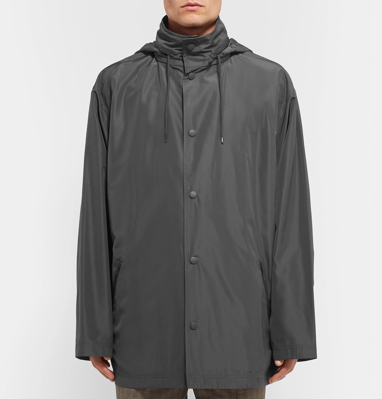 Jacket For Fullscreen Gray Faille Balenciaga Hooded View Lyst Printed Men xpqIWv