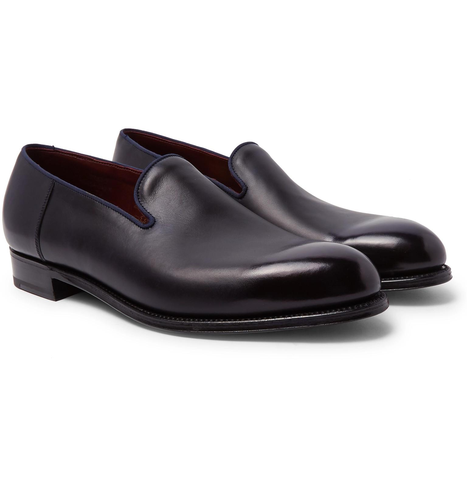 b4f60e6f5de J.M. Weston Tamponato Leather Loafers in Blue for Men - Lyst