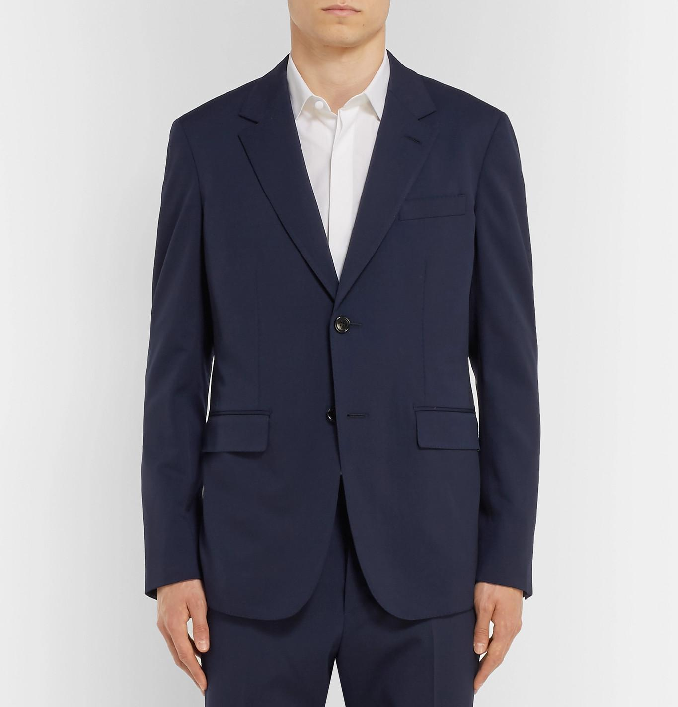 Berluti Navy Stretch-wool Twill Suit Jacket in Blue for Men