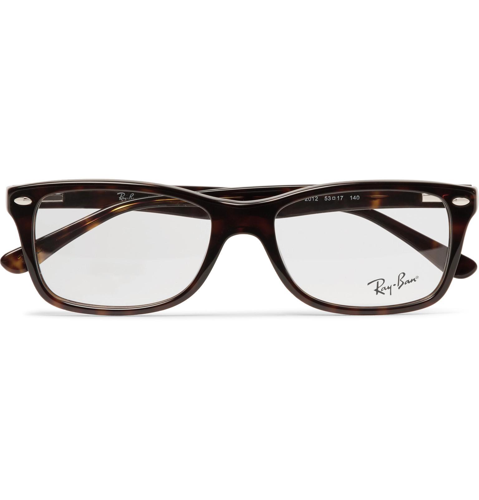16cd0448f3116 Ray-Ban. Men s Brown Square-frame Tortoiseshell Acetate Optical Glasses.   180 From MR PORTER