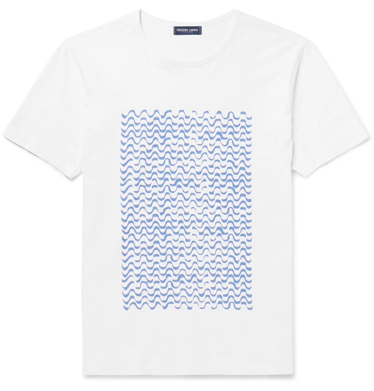 Frescobol Carioca + Paulo Mariotti Ipanema Printed Cotton-jersey T-shirt - White V7eoKV7