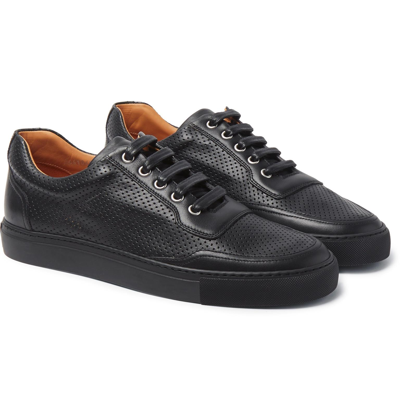 466841f7607 Lyst - Harry s Of London Mr Jones 2 Perforated Leather Sneakers in ...