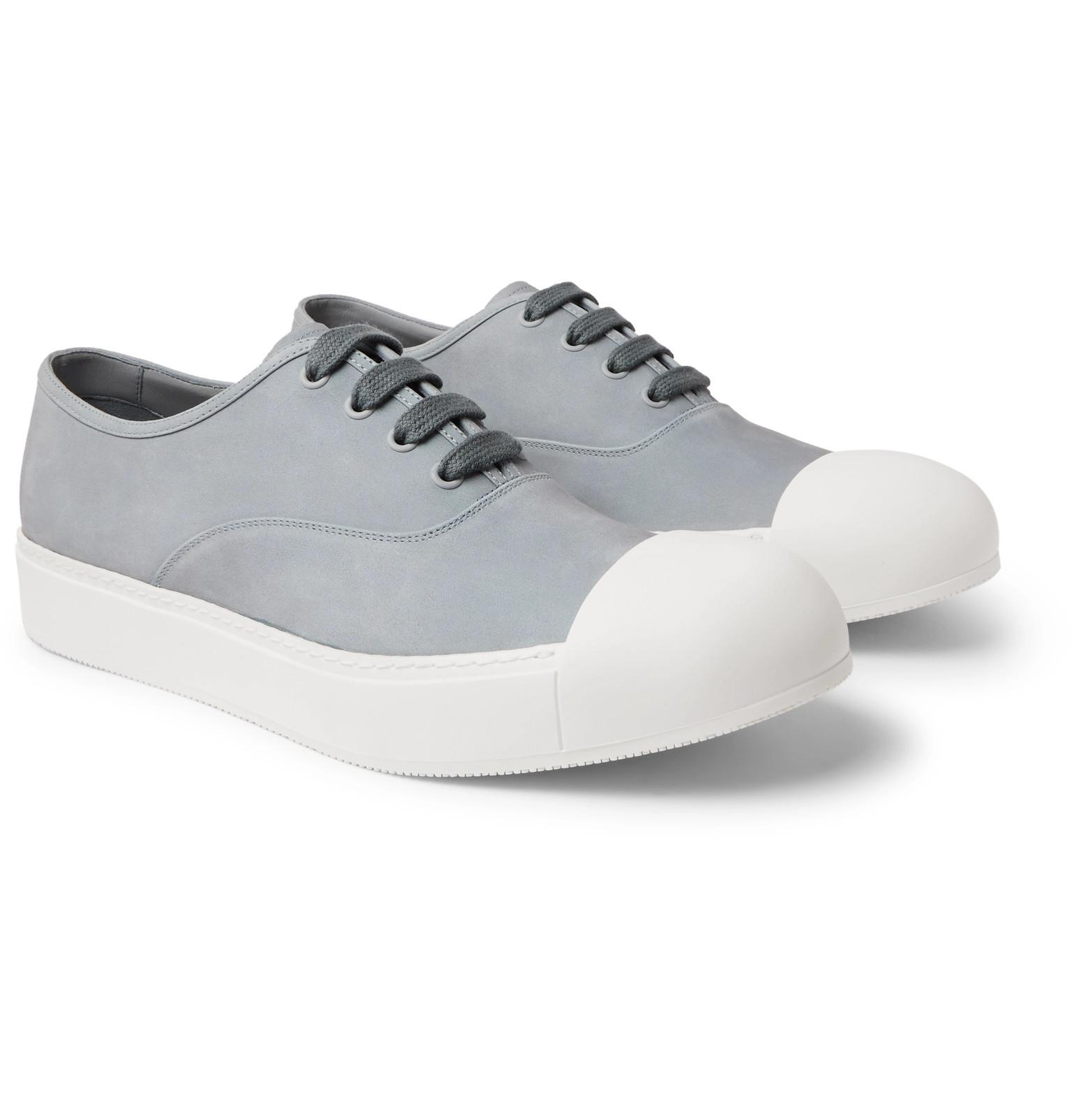 cheap price low shipping fee Prada Cap-Toe Nubuck Sneakers discount 2014 QKXapsrL
