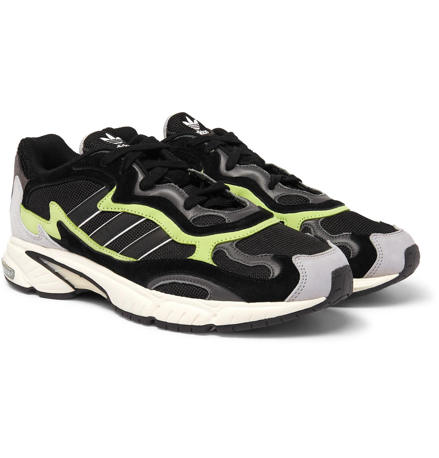 wholesale dealer 81642 ffa42 Adidas Originals - Black Temper Run Mesh And Suede Sneakers for Men - Lyst.  View fullscreen