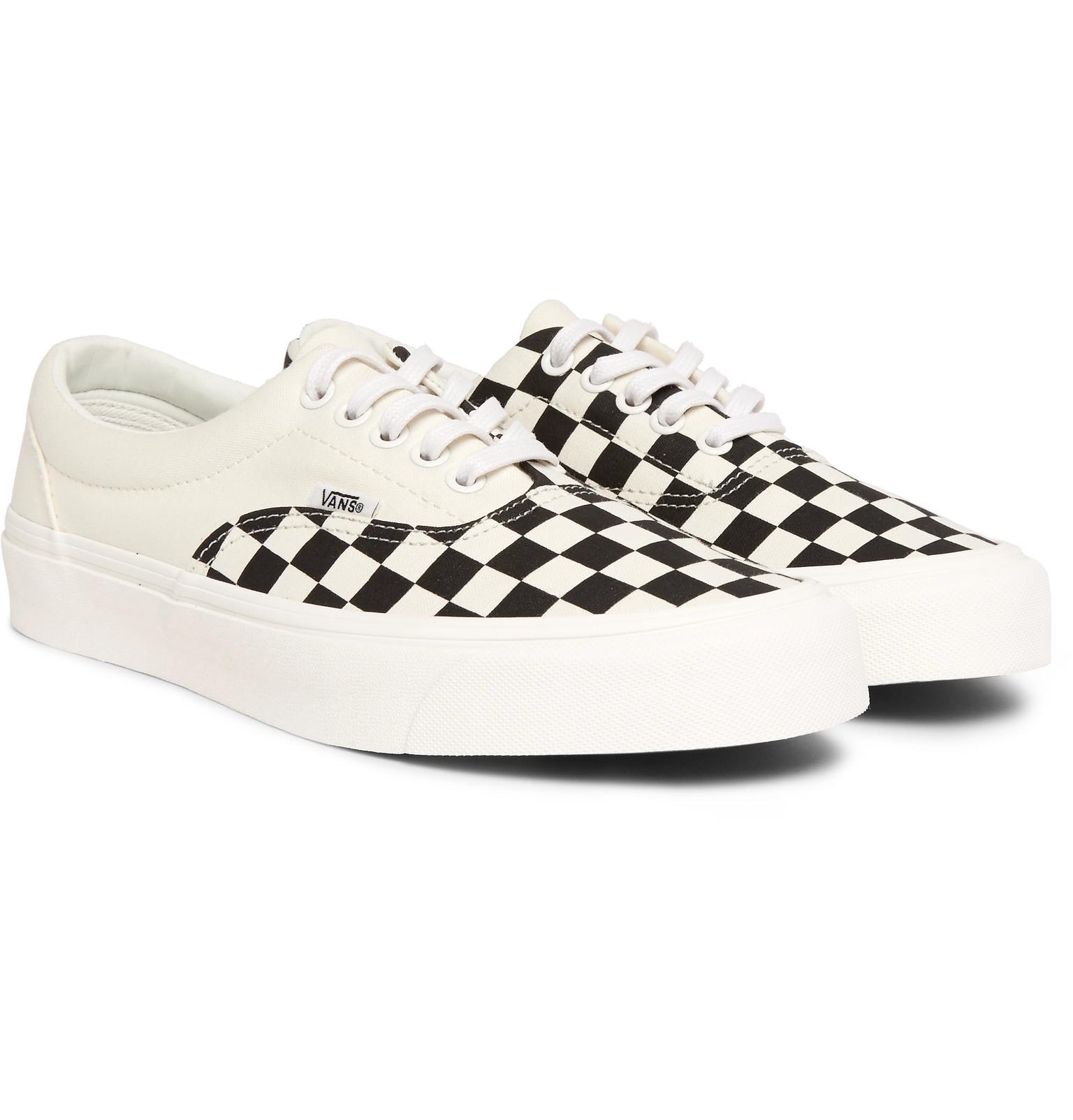 70591b94b7 Vans Era Checkerboard Canvas Sneakers in White for Men - Lyst