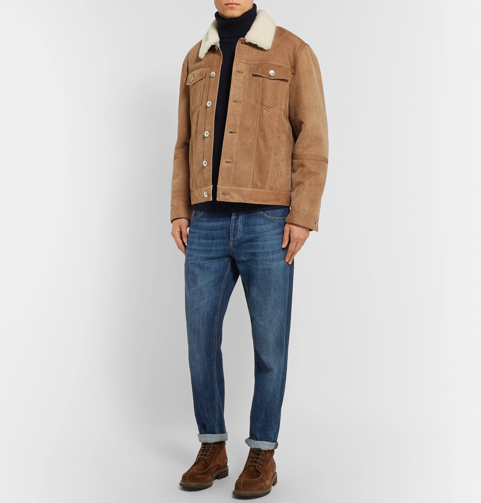 Rollneck Men For Sweater Cashmere Blue Lyst View Fullscreen Brioni RwqE4pW