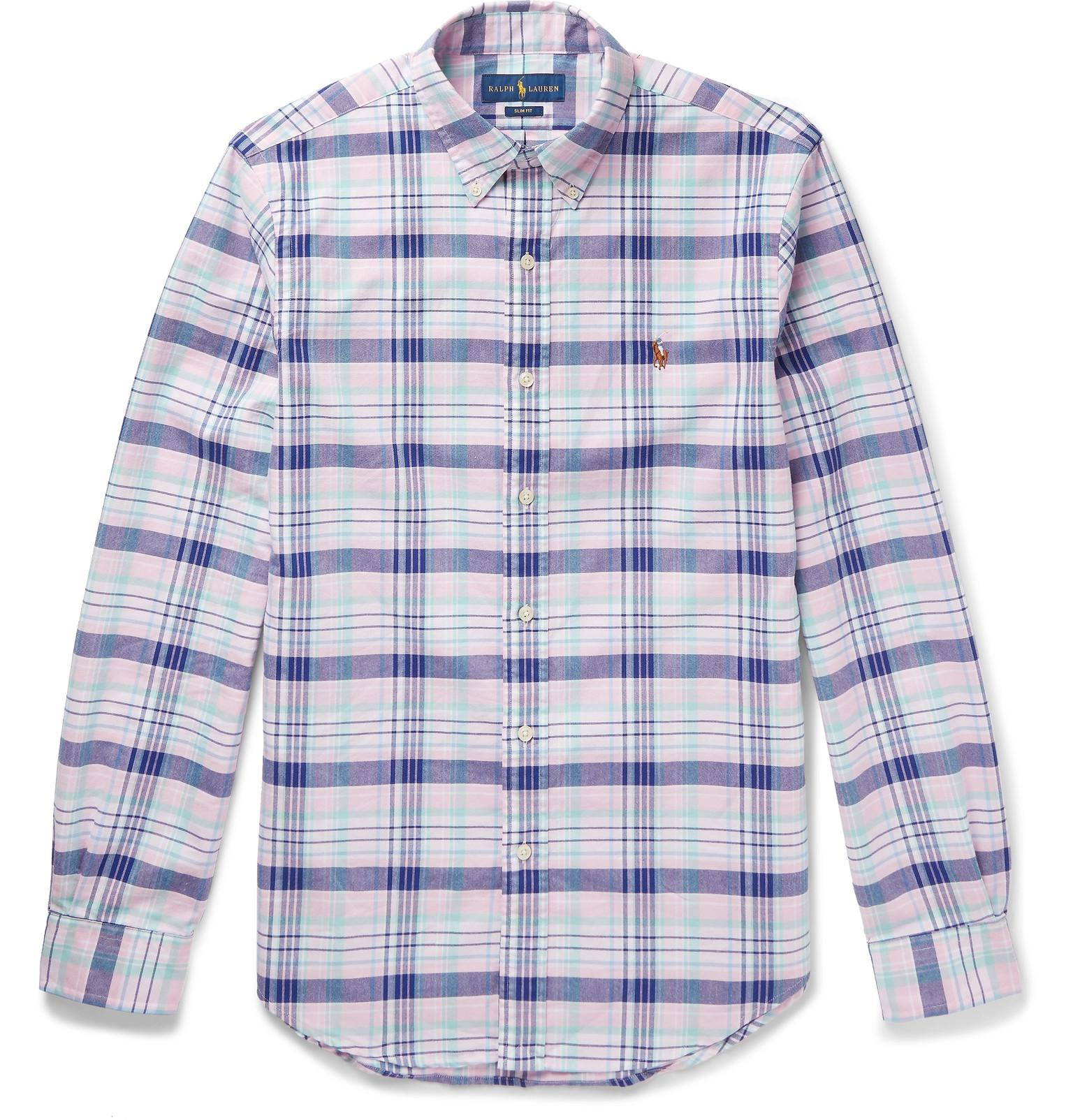 60246e6ab Polo Ralph Lauren - Pink Slim-fit Button-down Collar Checked Cotton Oxford  Shirt