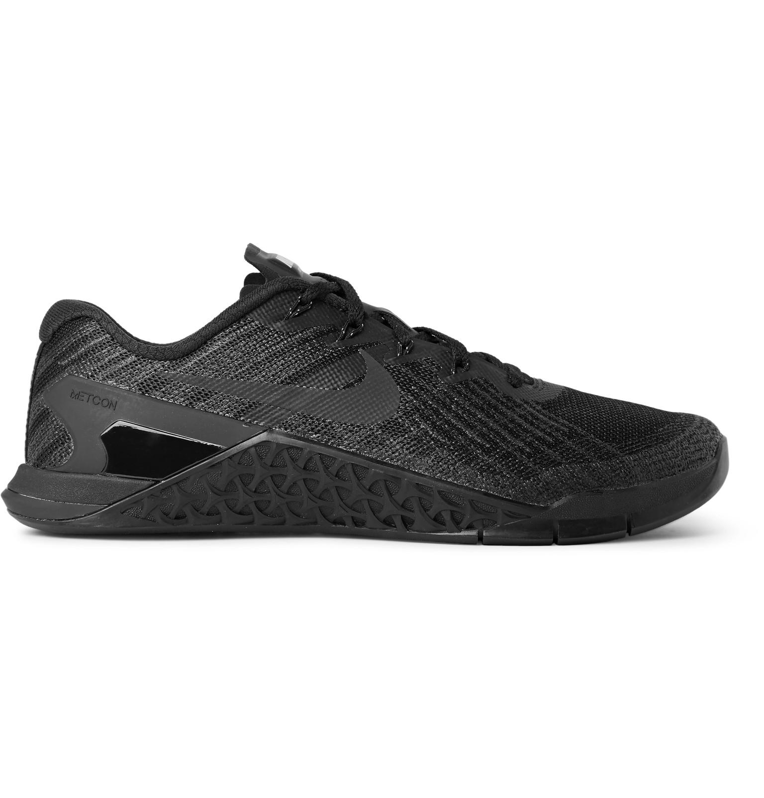 Nike. Men's Black Metcon 3 Textured-mesh And Rubber Sneakers