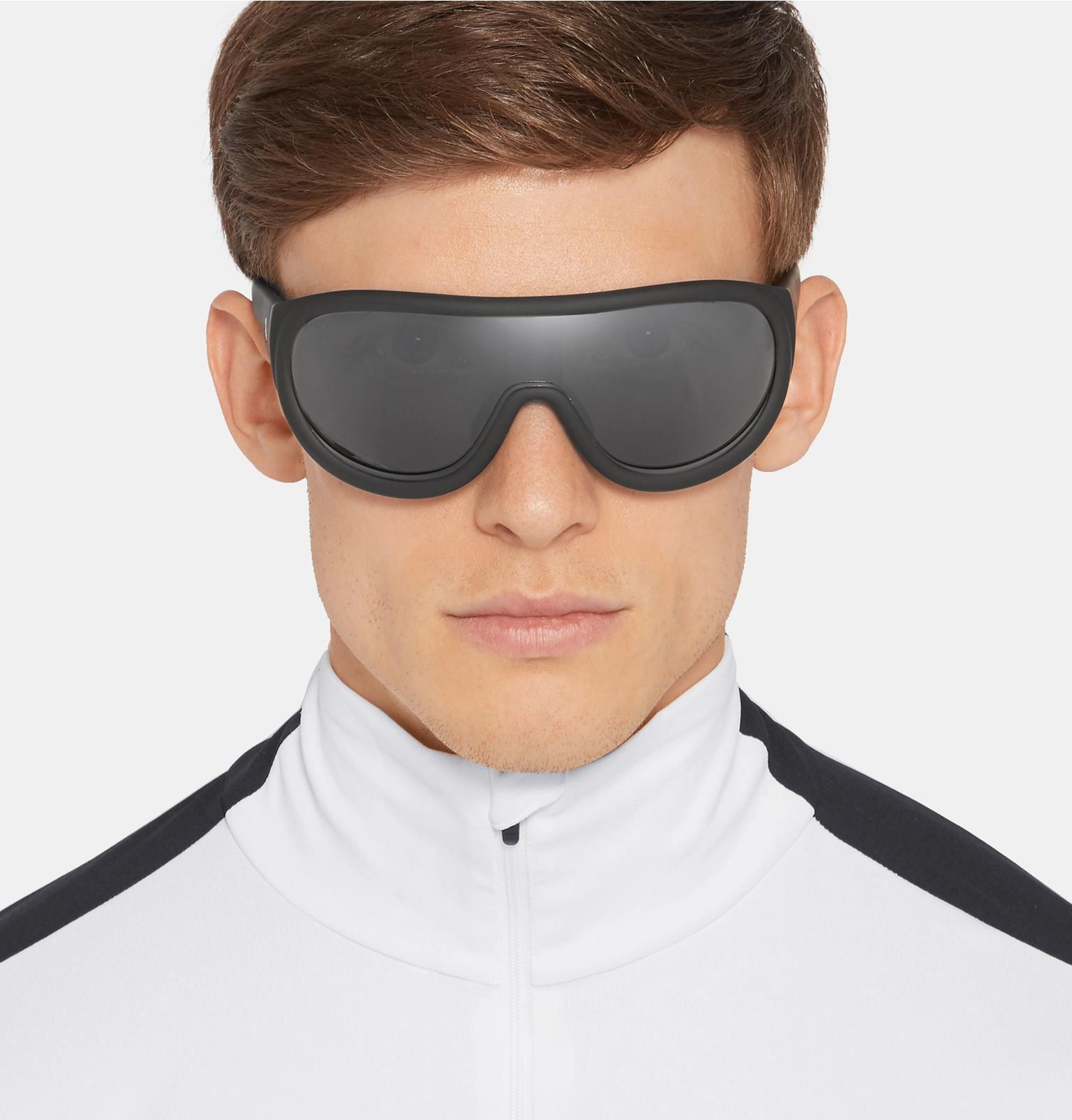 Moncler For Sunglasses In Men Ski Lyst Acetate Black rwOqnZvrS