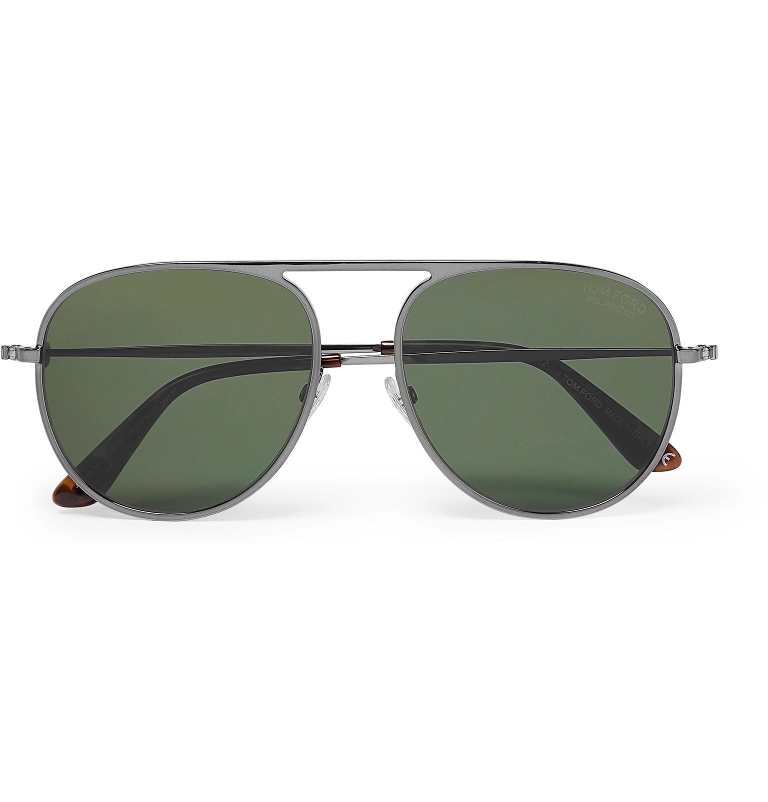 2085dd9d906 Lyst - Tom Ford Aviator-style Gunmetal-tone Polarised Sunglasses for Men
