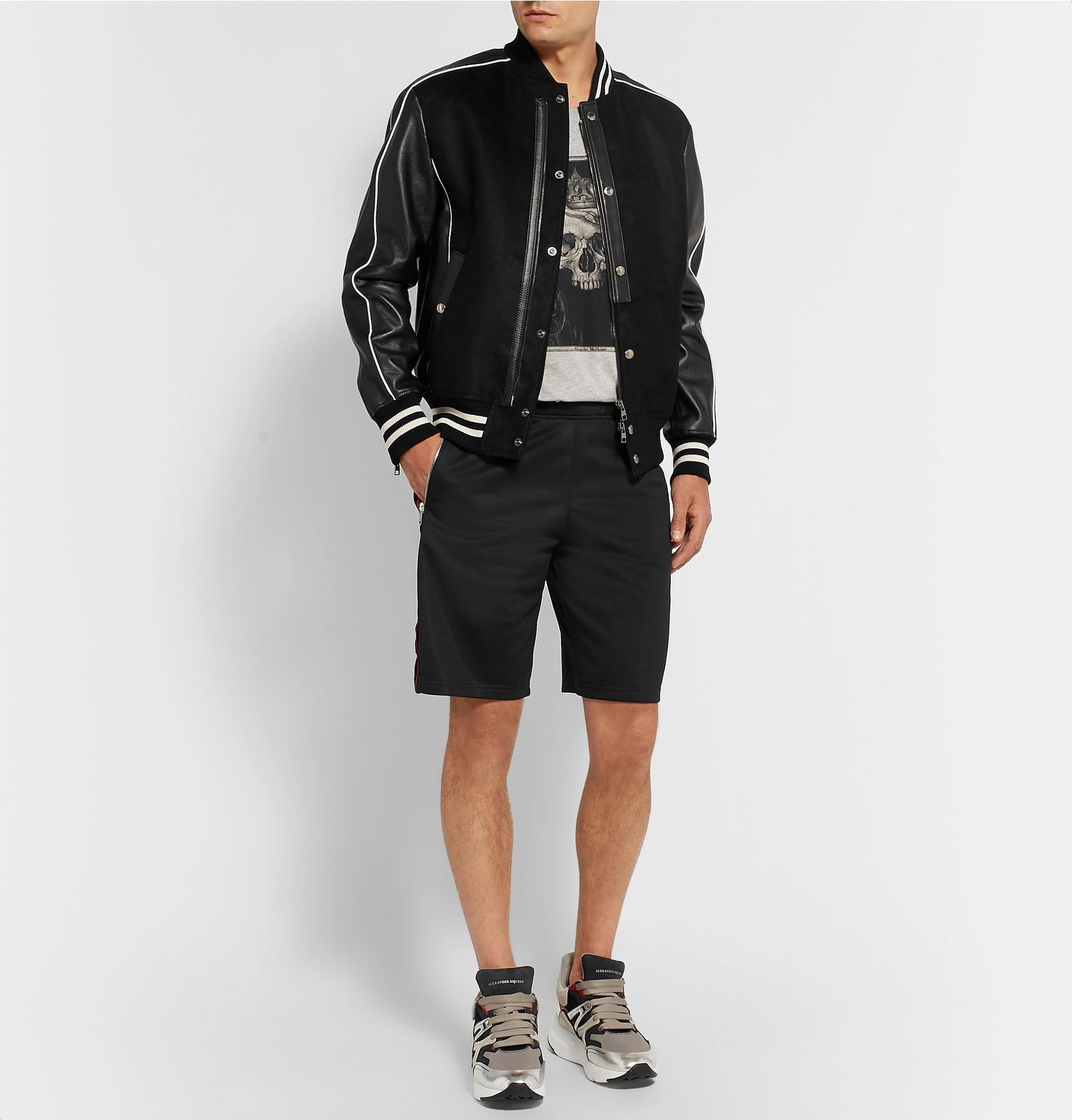 c9b8534bdaa alexander-mcqueen-black-Full-grain-Leather-trimmed-Moleskin-Bomber-Jacket.jpeg