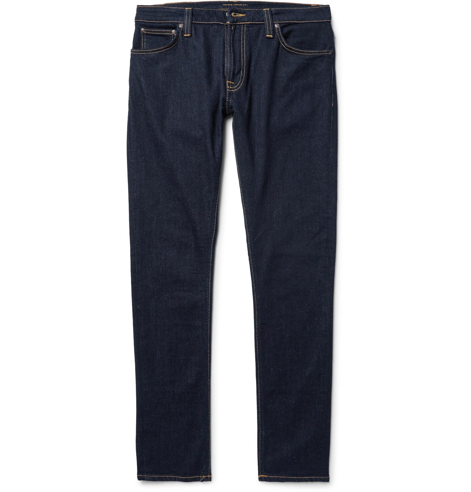 Nudie Lin Skinny Tapered Organic Stretch-denim Jeans - Blue Jeu Acheter Obtenir À La Mode Acheter Pas Cher En Ligne yUhJ7P6Qht