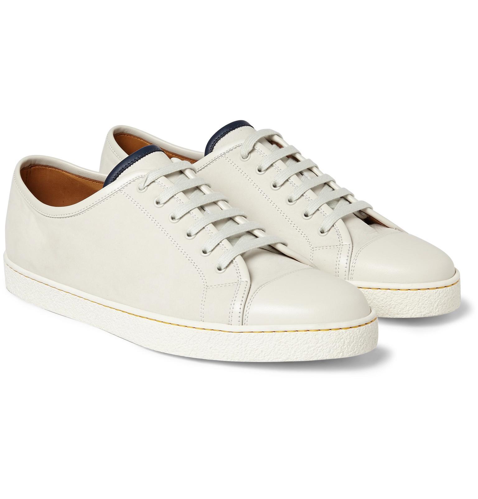 discount low cost buy cheap ebay John Lobb Levah Cap-Toe Brushed-Leather Sneakers kAQSqkd