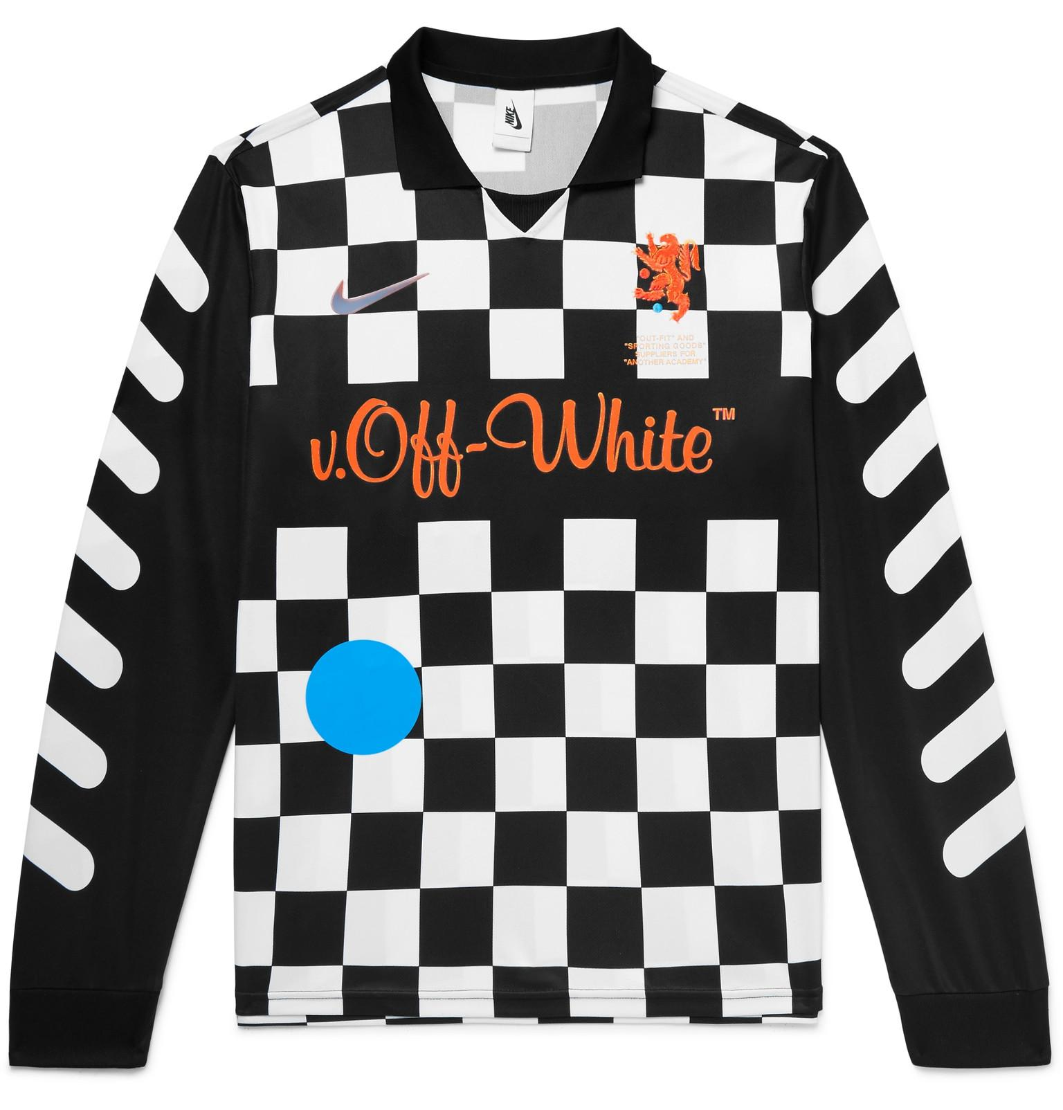 0592364e4 Lyst - Nike + Off-white Embroidered Printed Stretch-jersey Polo ...