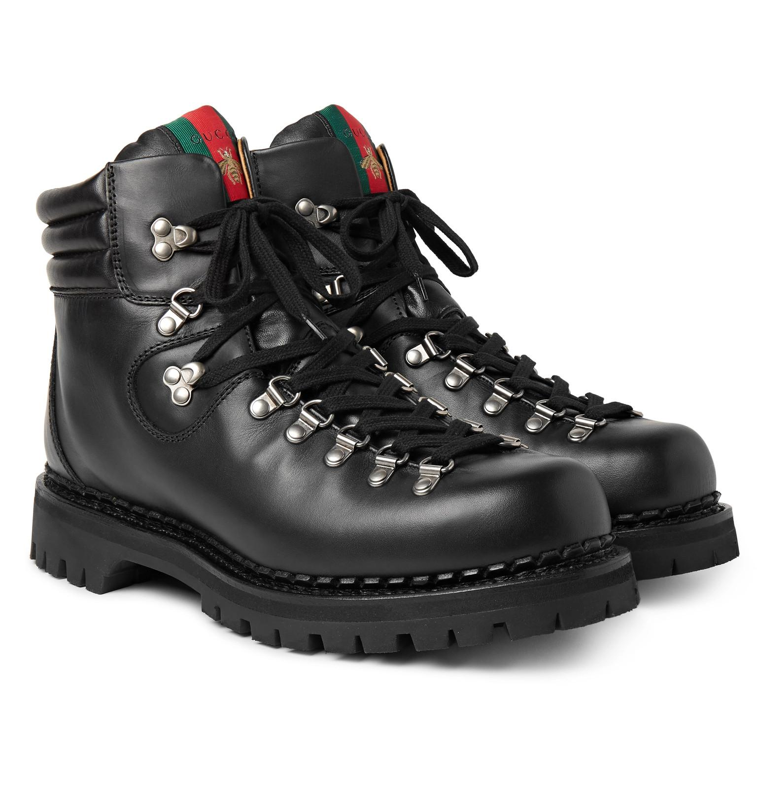 a0cc2ec4e435 Gucci Tracker Leather Boots in Black for Men - Lyst