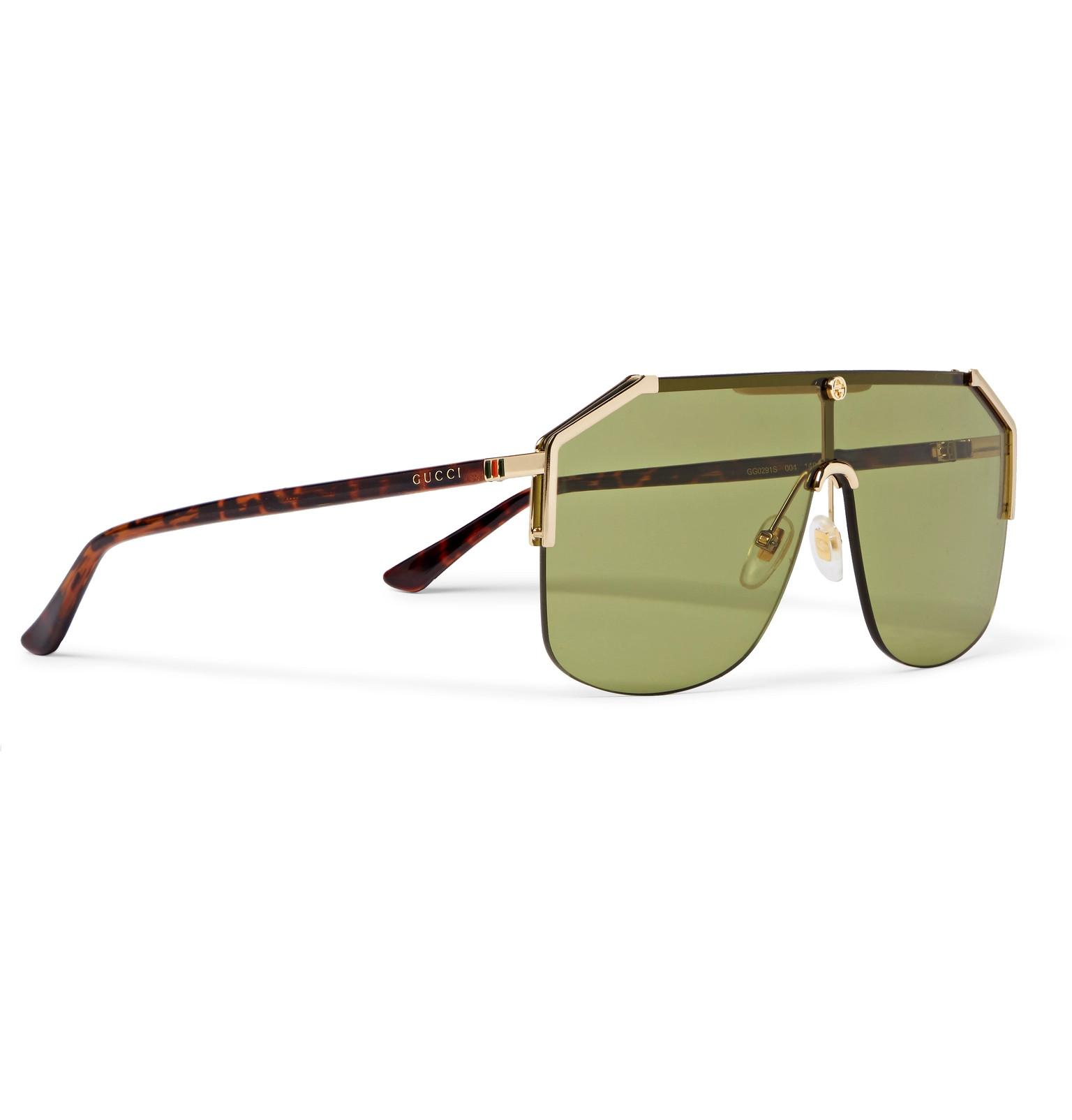6be751c75f1a Gucci Endura Oversized Aviator-style Gold-tone And Tortoiseshell ...