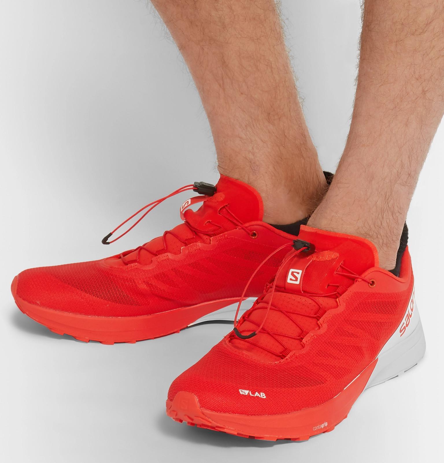 buy online 1bbbd 2e314 Yves Salomon S/lab Sense 7 Two-tone Mesh Running Sneakers in ...