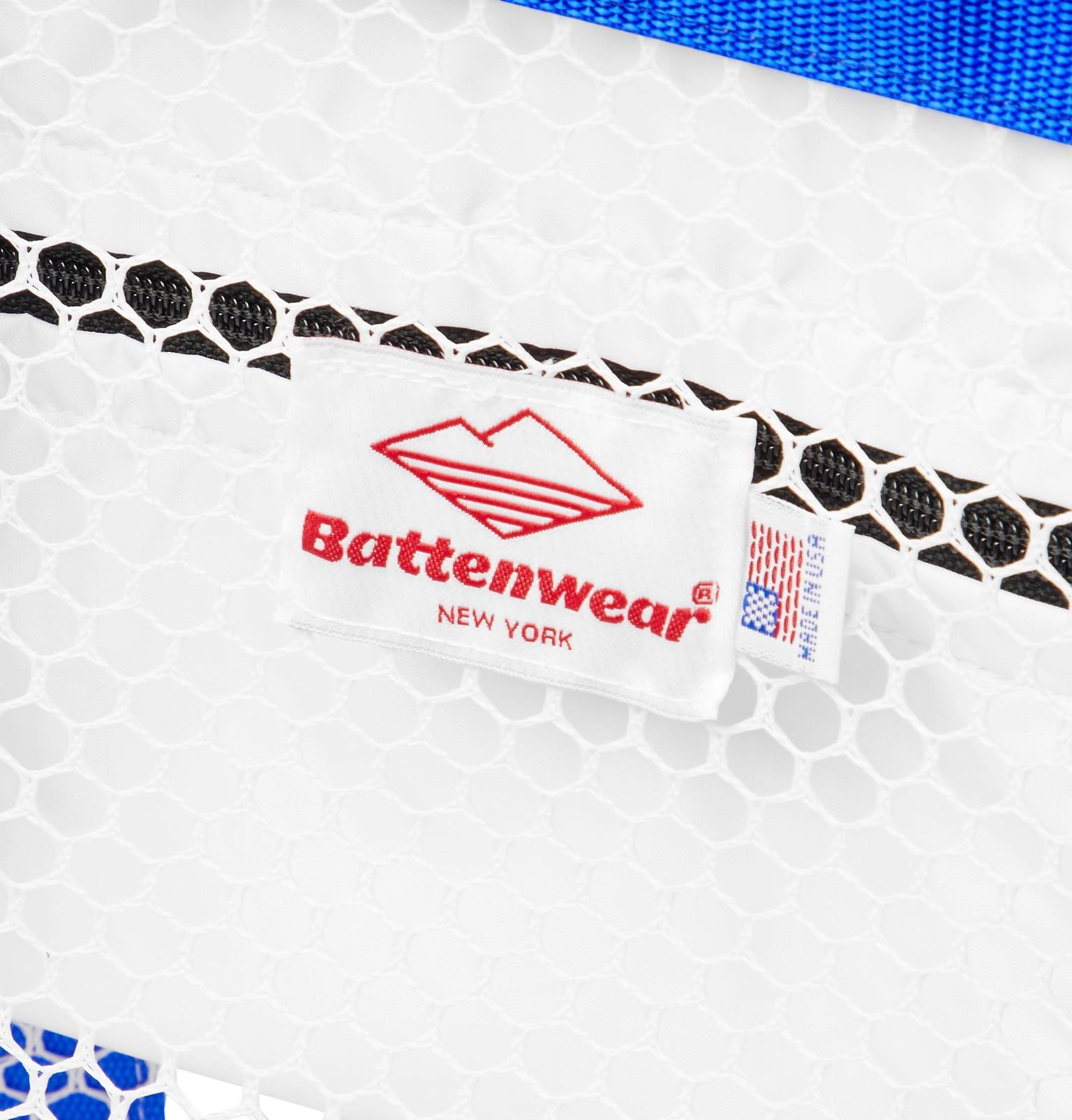 Battenwear Denim Mesh Tote Bag in White for Men