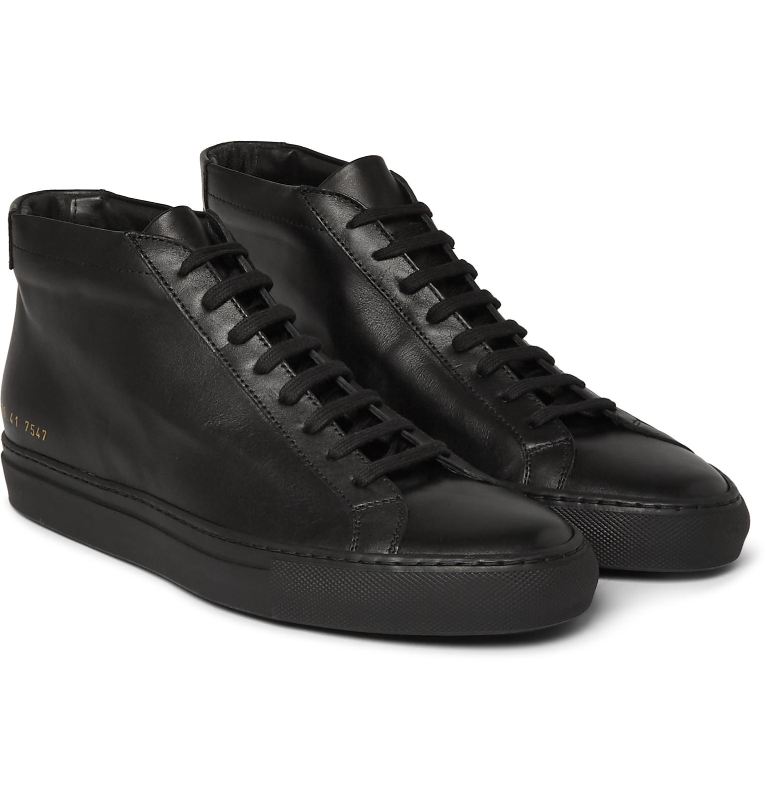 Lyst - Common Projects Original Achilles Leather High-top ...