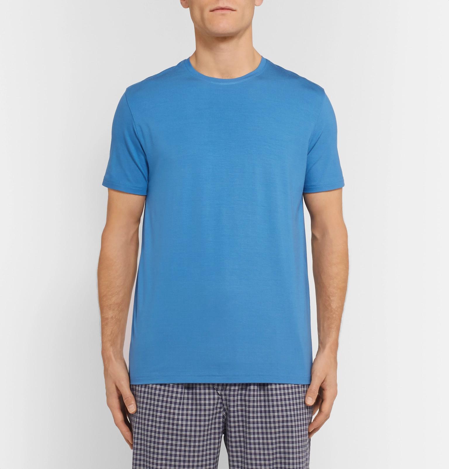 c1dc93d0cf59 Derek Rose Basel Stretch-micro Modal T-shirt in Blue for Men - Lyst
