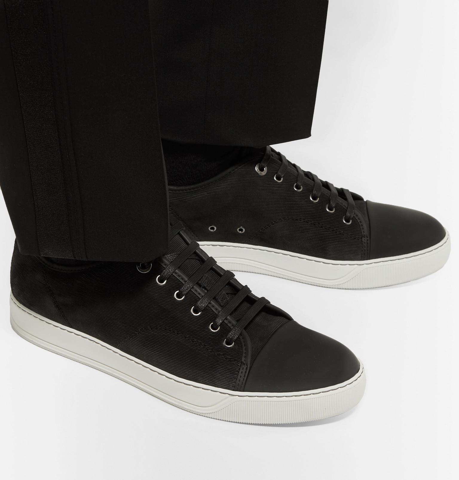 046c6bf877fe15 lanvin-black-Cap-toe-Nubuck-And-Rubberised-leather-Sneakers.jpeg
