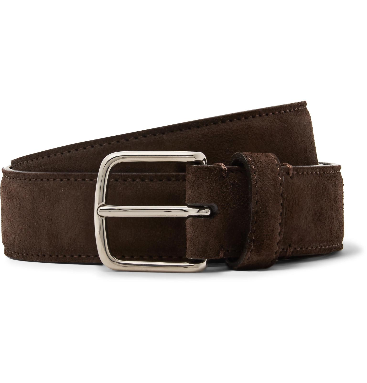4d3321e1f78 The Row 3cm Dark-brown Suede Belt in Brown for Men - Lyst