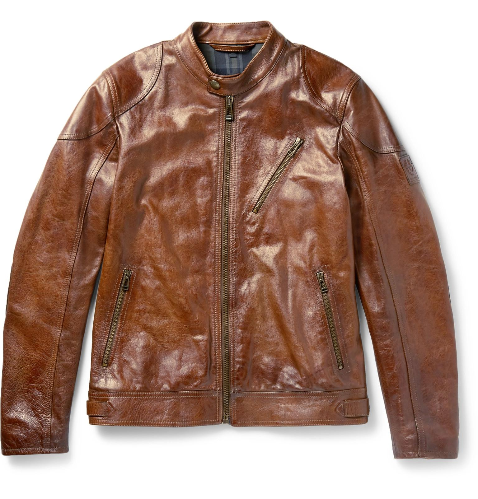 223e173de Belstaff Maxford 2.0 Leather Jacket in Brown for Men - Lyst
