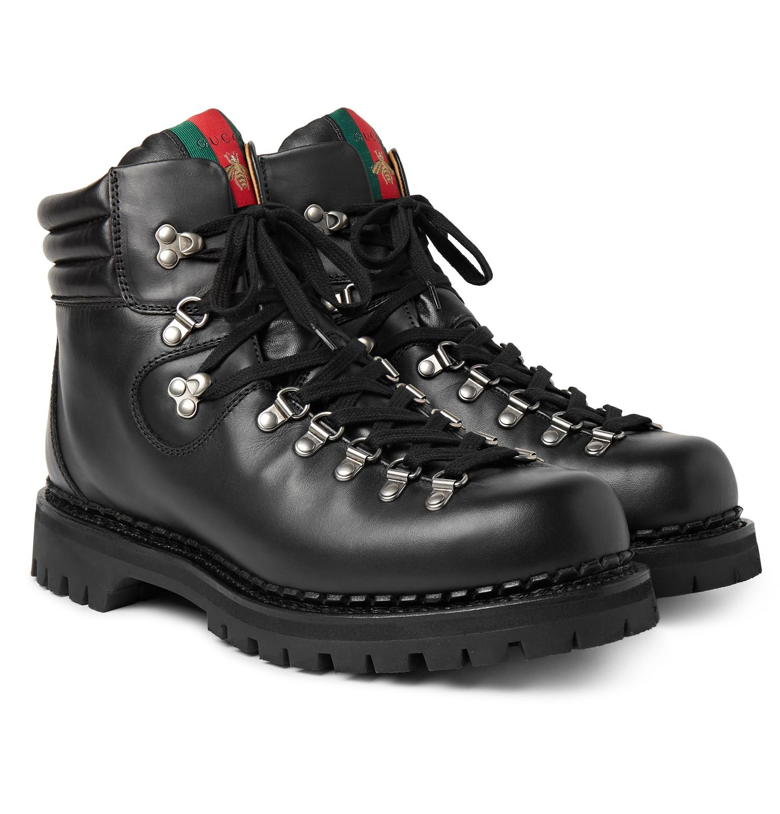 3f670d63f Gucci Tracker Leather Boots in Black for Men - Lyst
