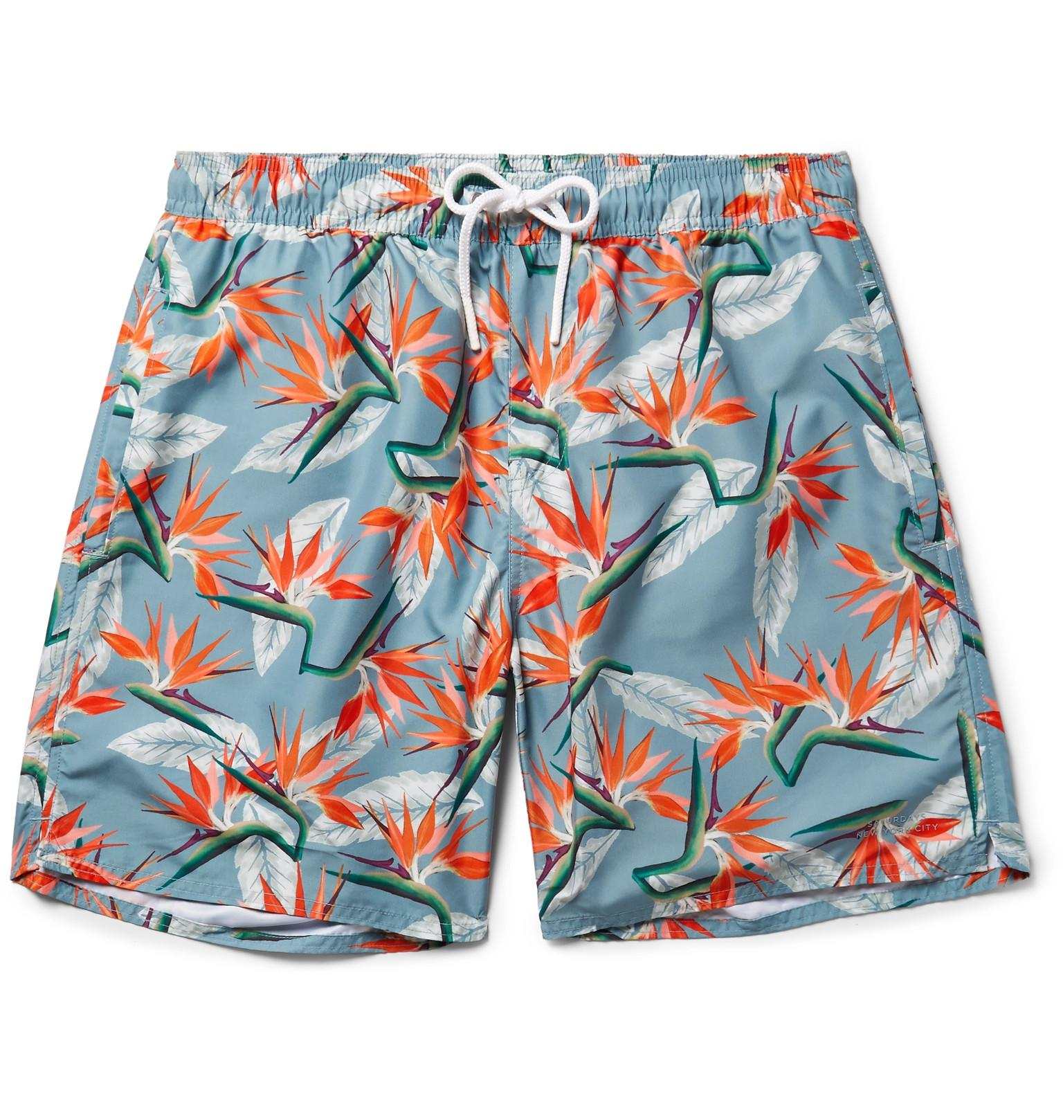 Timothy Mid-length Printed Swim Shorts Saturdays Surf NYC Outlet Store Cheap Price Comfortable Sale Online Free Shipping Outlet P9clUikRO