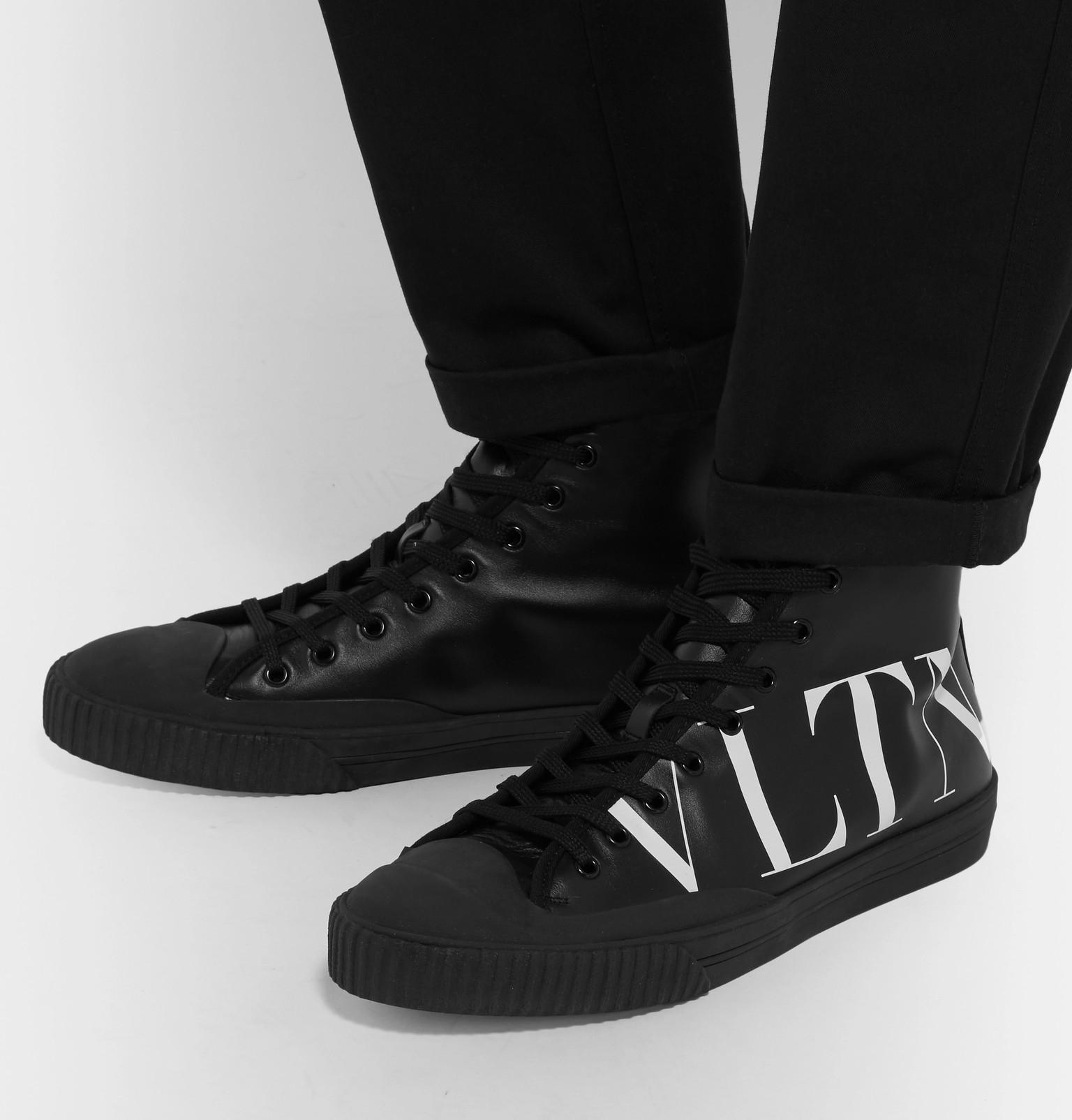 quality design c3afd b64ab valentino-black-Garavani-Logo-print-Leather-High-top-Sneakers.jpeg