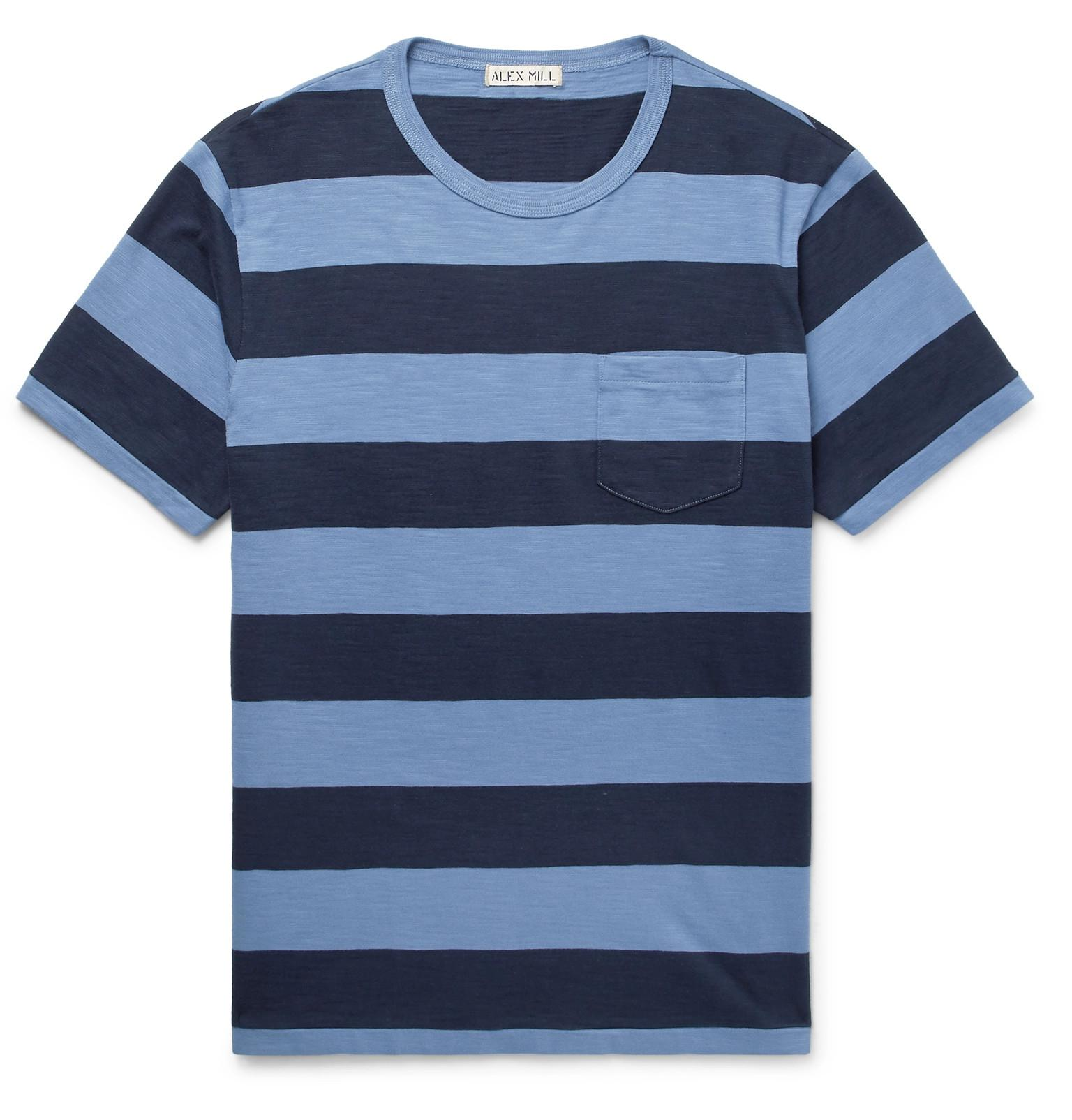 Outlet 2018 Mélange Striped Cotton-jersey T-shirt Alex Mill Really For Sale Big Discount Cheap Price Best Place For Sale YH8jbA7r