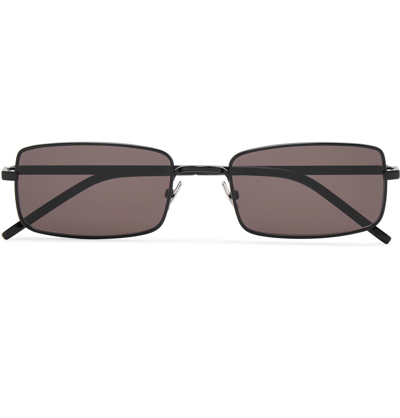 d09b9c486d1c Saint Laurent Square-frame Matte-metal Sunglasses in Black for Men ...