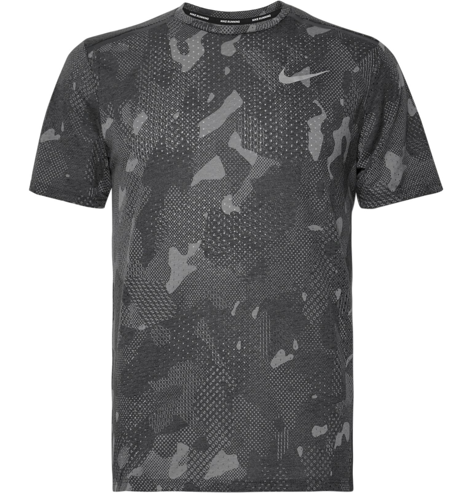 hot sale new york casual shoes Rise 365 Perforated Camouflage-print Dri-fit Mesh T-shirt