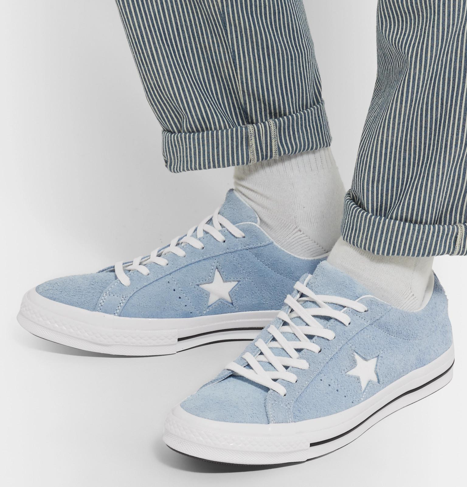 Converse One Star Ox Suede Sneakers in Light Blue (Blue) for Men ...