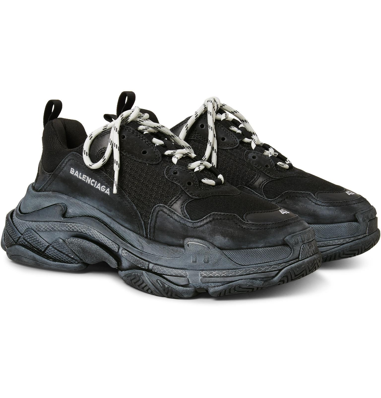 Balenciaga Sneaker low TRIPLE S mesh nubuck nzdyqX