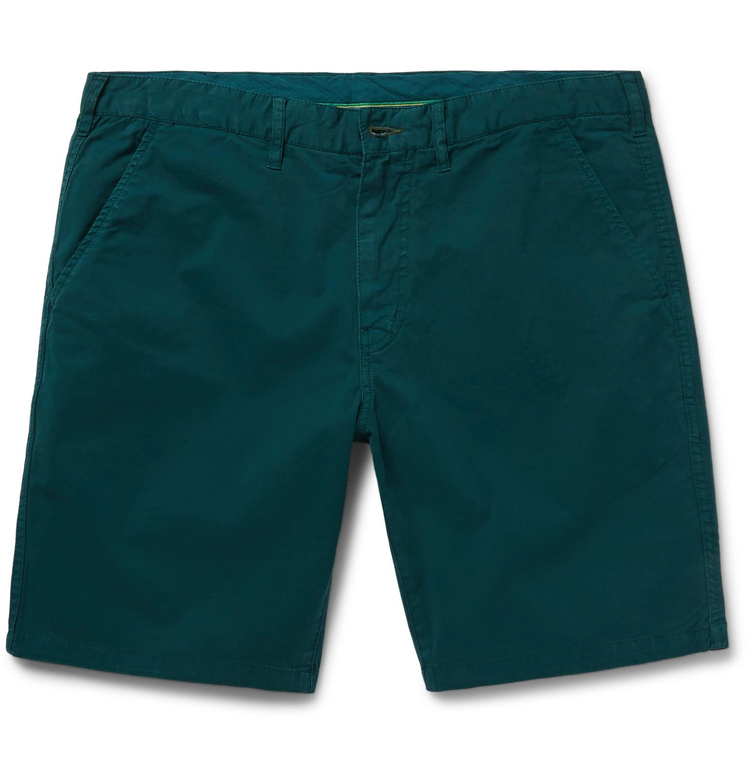 Paul Smith Slim-fit Stretch Cotton-twill Shorts - Green FRK8Qqps