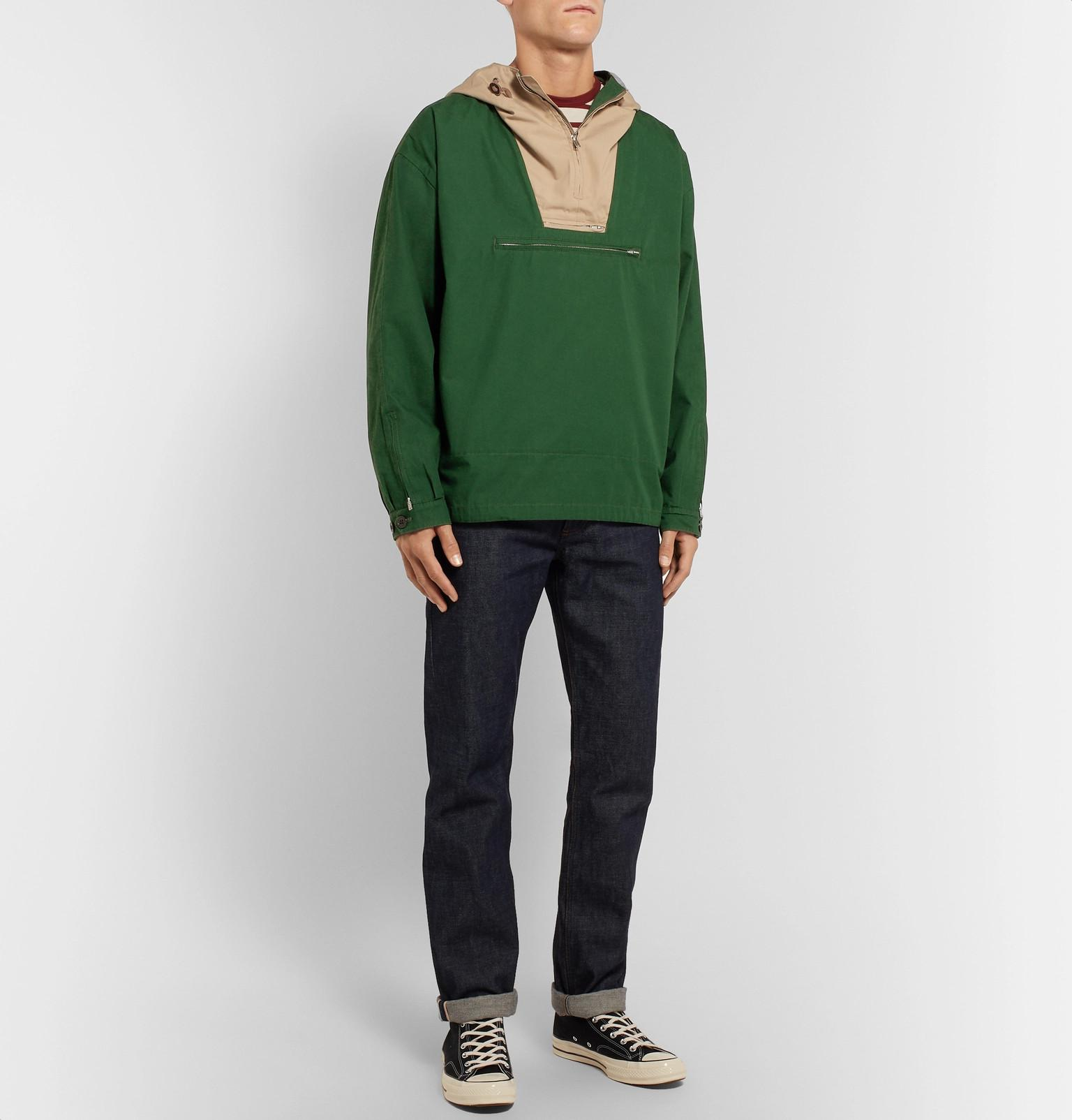 View Lyst J For Anorak crew Fullscreen Colour Green Block Cotton 1989 Men wfvxqRzSwW