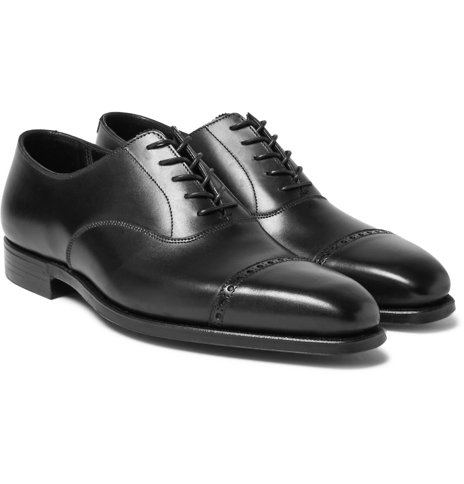 outlet nicekicks George Cleverley Charles Cap-Toe Leather Oxford Shoes brand new unisex sale online high quality buy online PYeUnfSfaE