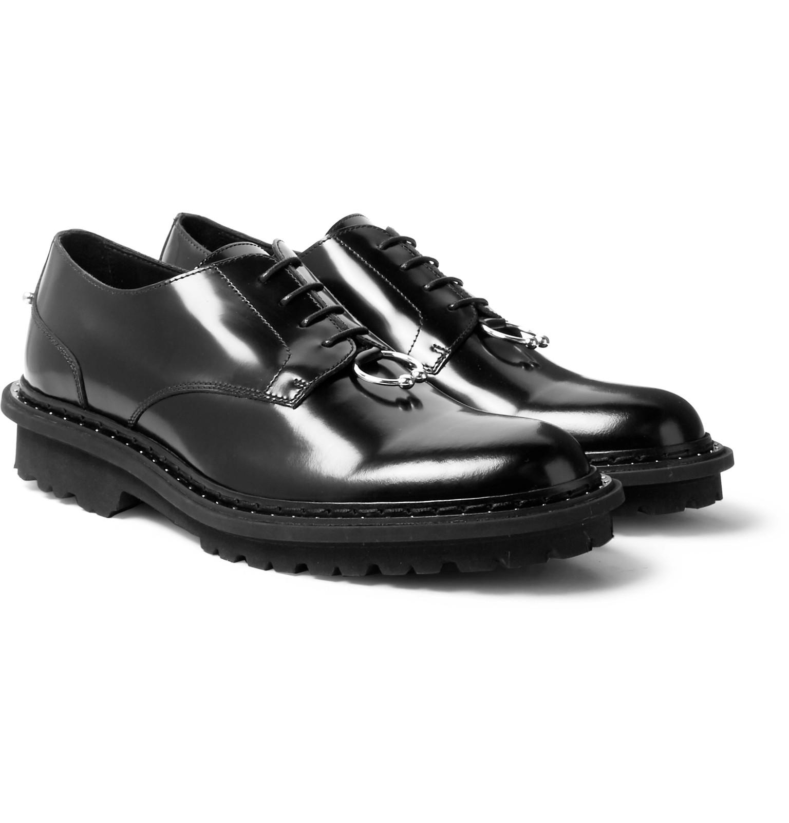 clearance low shipping fee Neil Barrett Round-Toe Leather Oxfords cheapest price cheap price cheap price outlet KGkROlTo
