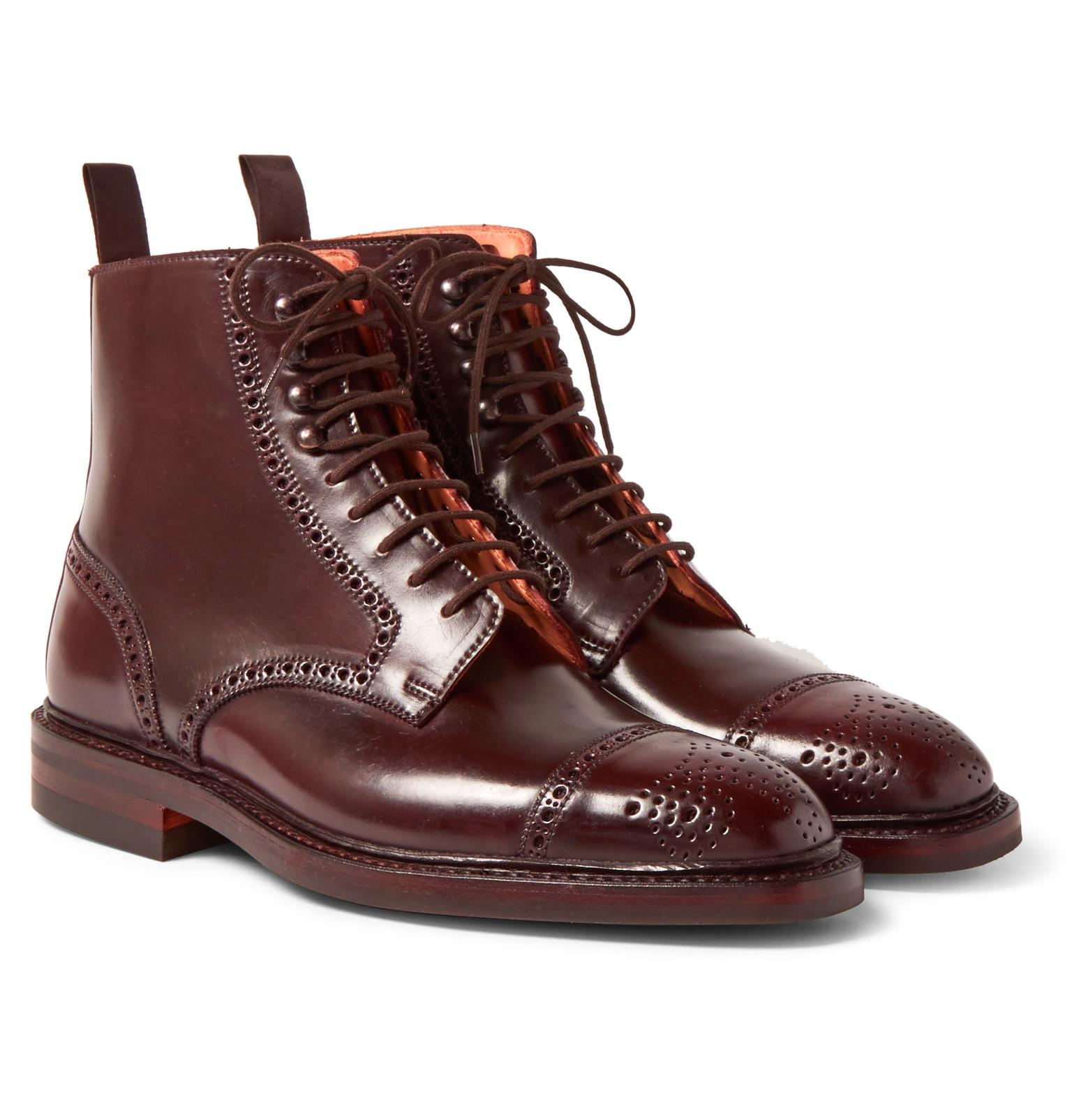 Brogue London Cordovan Oxblood toe cap perforated Heinrich Dinkelacker Outlet Store For Sale Wide Range Of Online How Much s5gd5MA