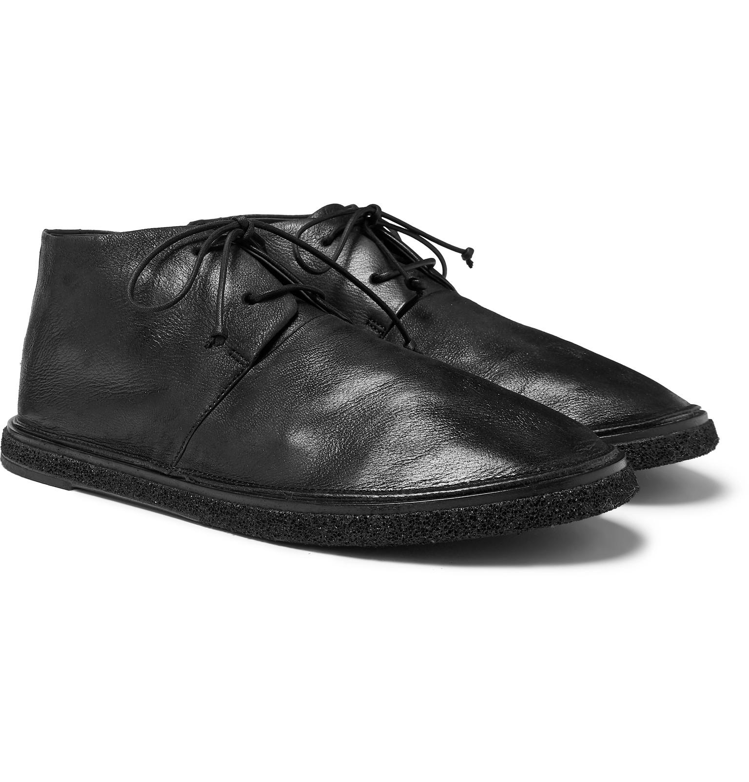 9e3425548f16 Lyst - Marsèll Stag Leather Chukka Boots in Black for Men