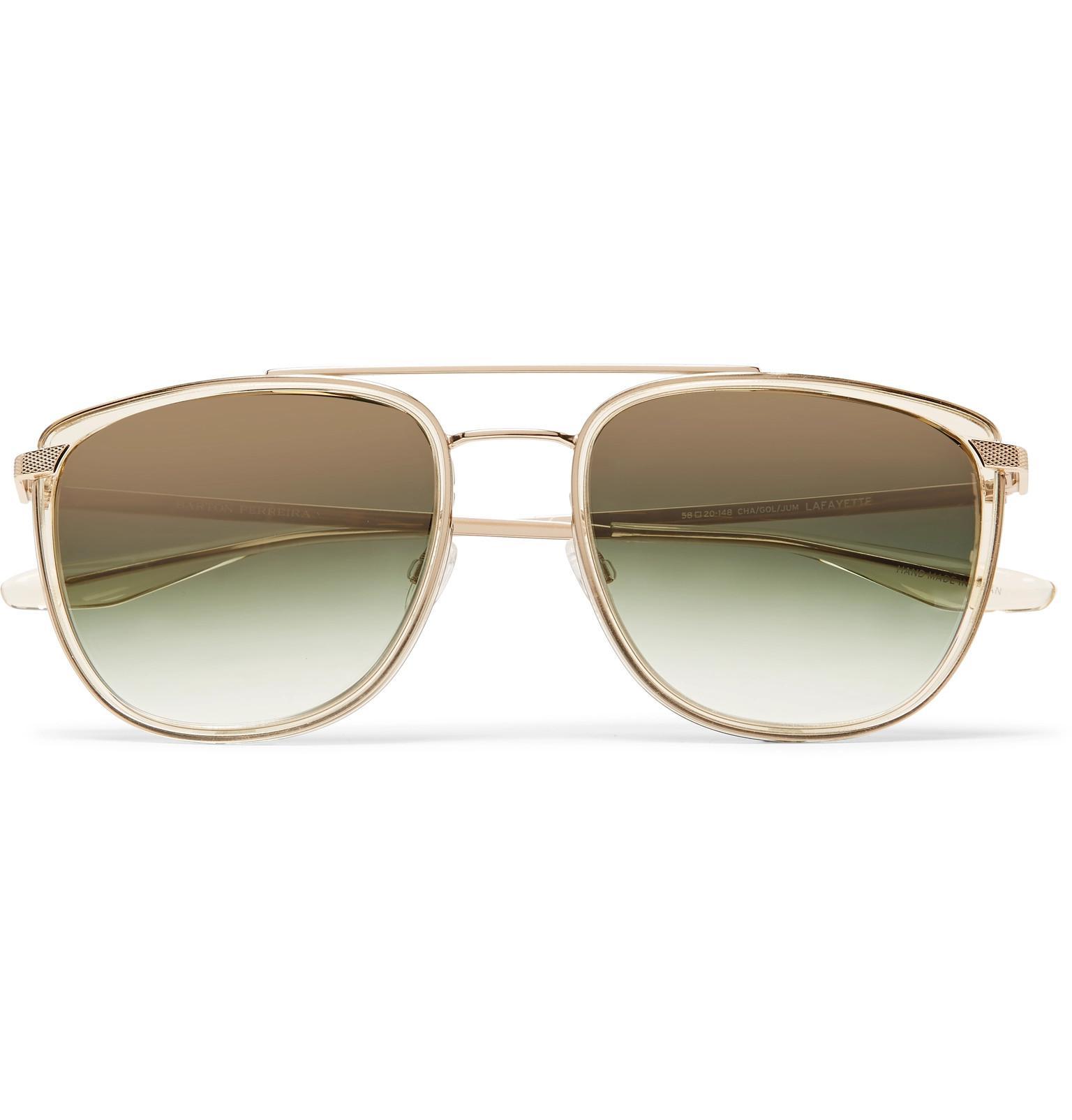 Lafayette Aviator-style Tortoiseshell Acetate And Gold-tone Sunglasses Barton Perreira sWJhxjO
