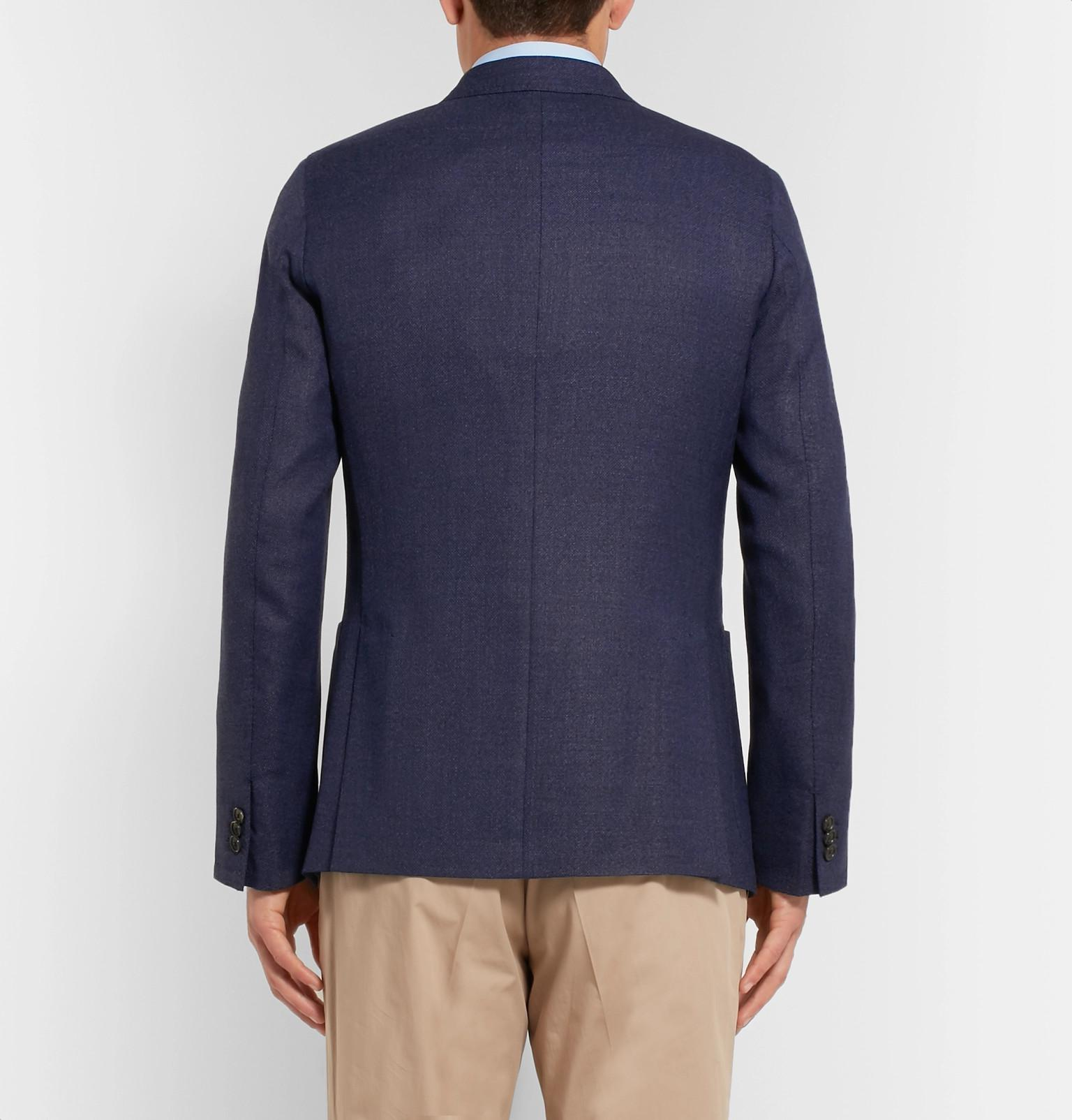 Paul Smith Blue Soho Slim-fit Mélange Wool Blazer for Men