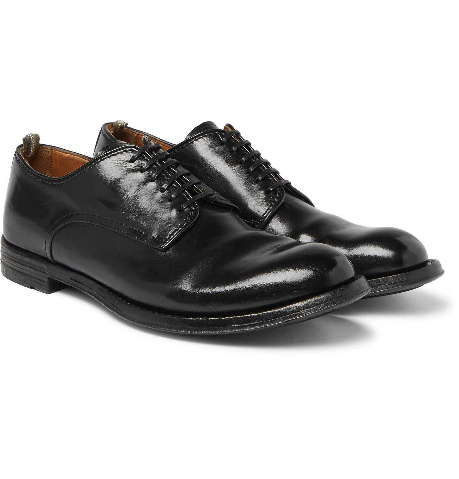 Officine Creative Leather Anatomia Derby Shoe in Black for Men