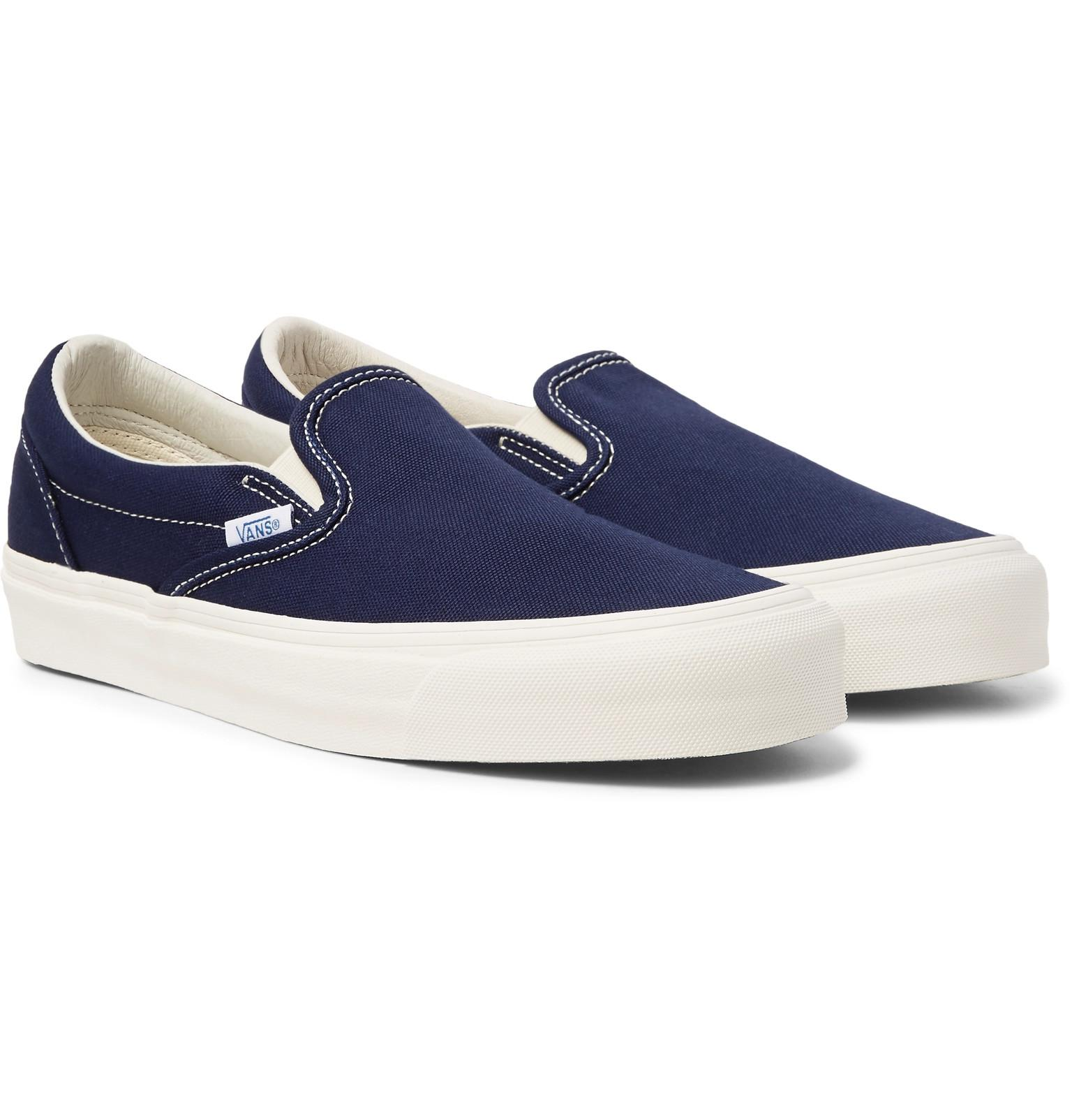 cadena emergencia cable  Vans Og Classic Lx Canvas Slip-on Sneakers in Navy (Blue) for Men ...