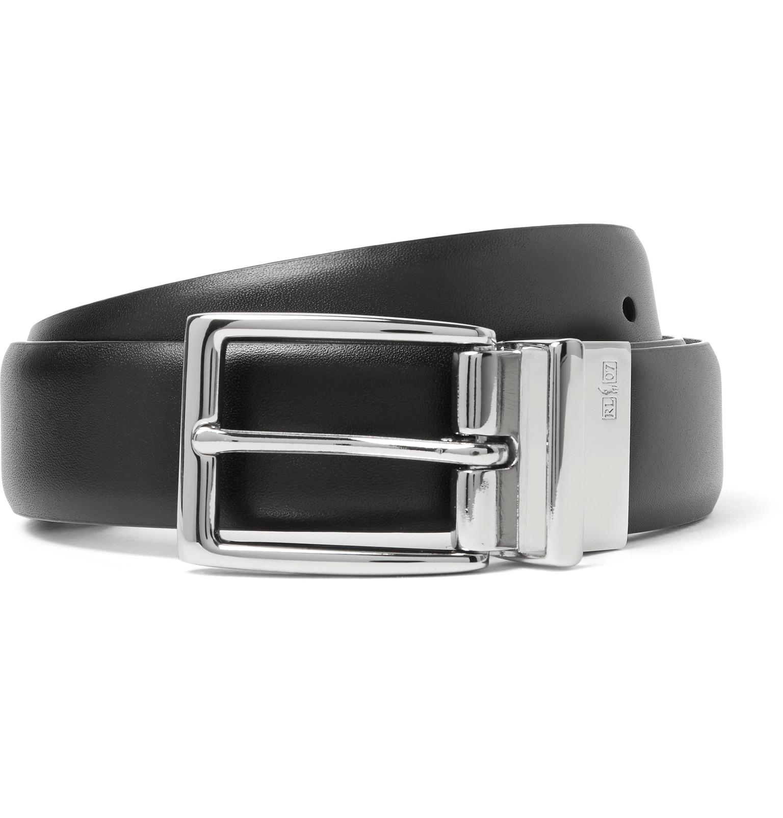 ee51a6cb Polo Ralph Lauren 3cm Black And Dark-brown Reversible Leather Belt for men