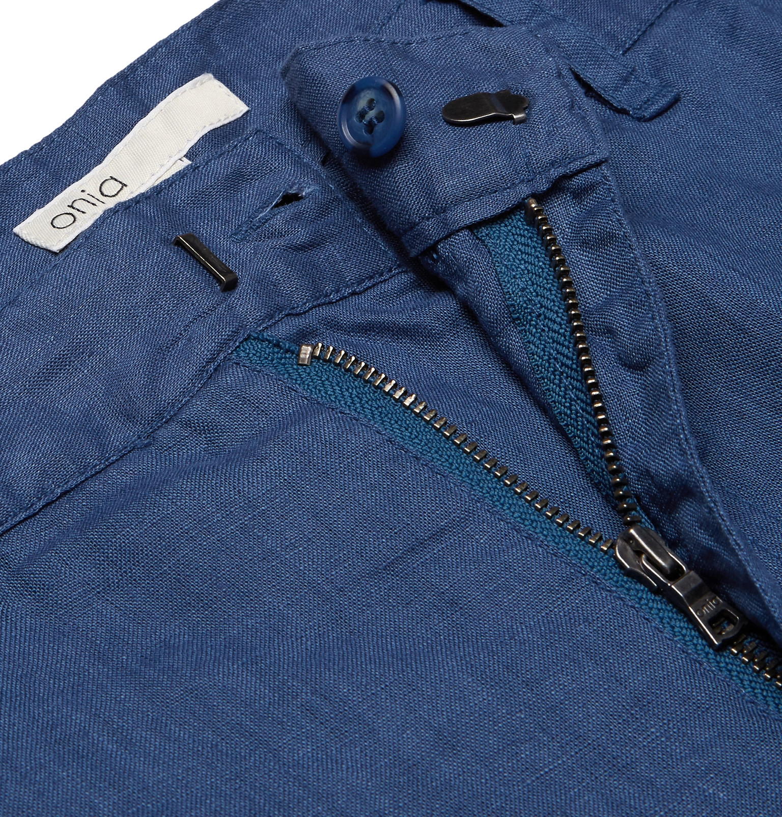 Onia Abe Linen Trousers in Indigo (Blue) for Men