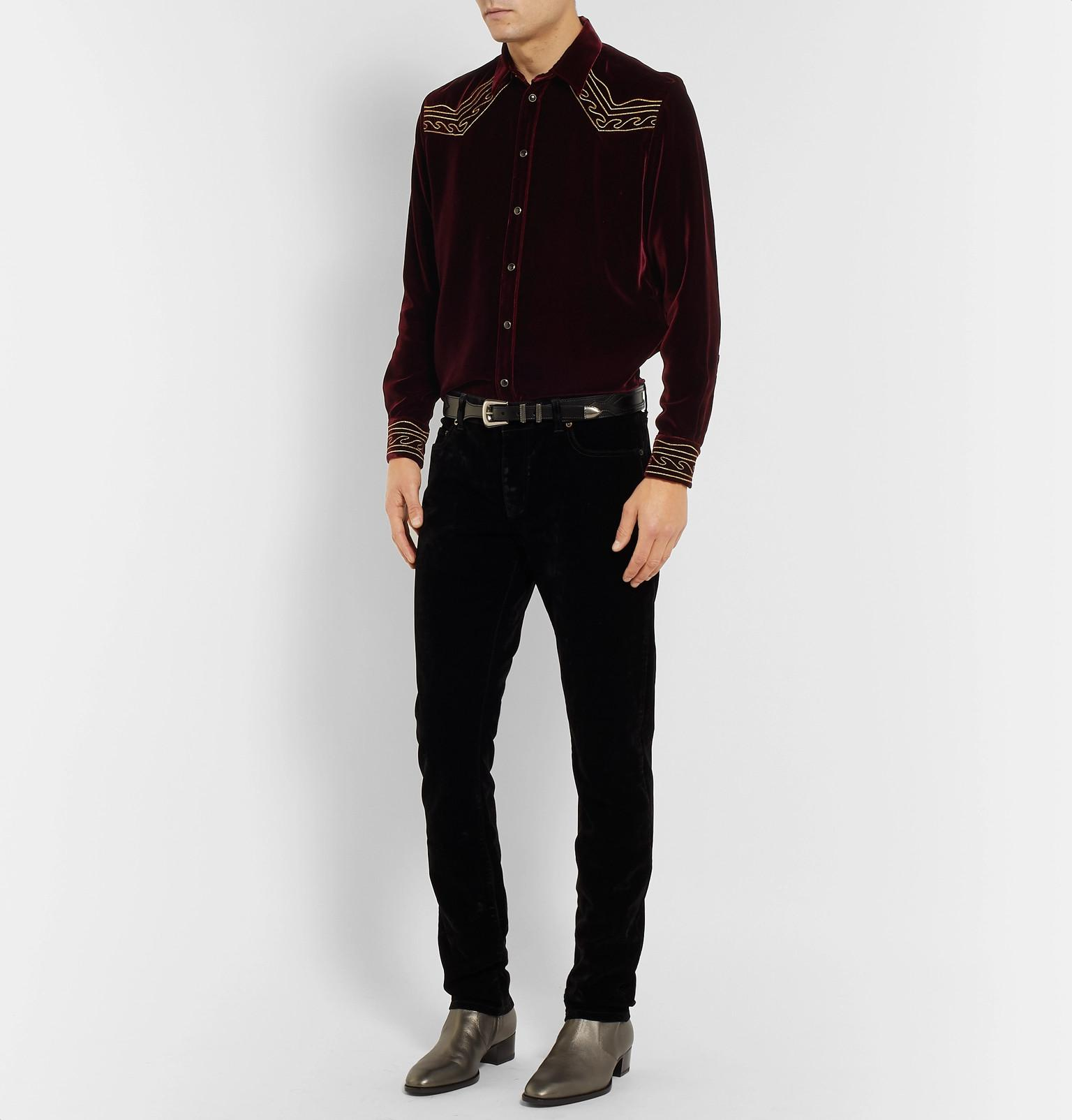 Saint Laurent Slim-fit Embroidered