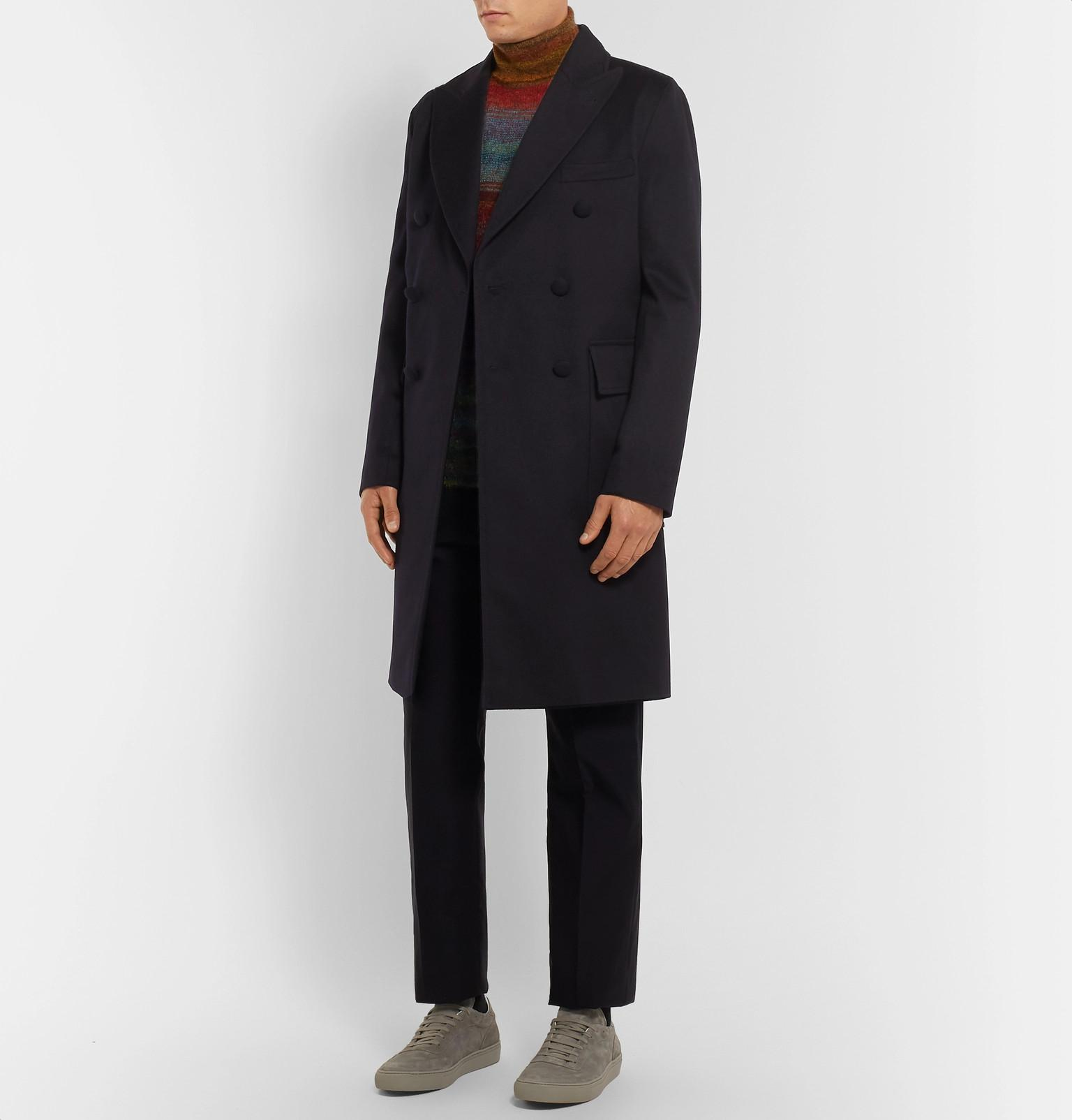 System breasted Double Wool Navy Generale Storm Officine Overcoat dqBBPEw